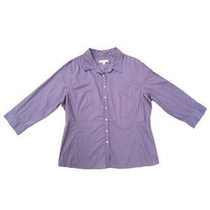 Merona Lilac Gray Button Up Casual Business Attire